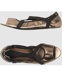 Marni Peep-Toe Ballet Flats - Lyst