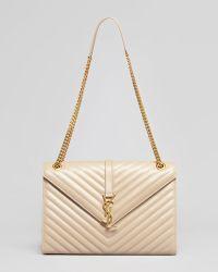 Saint Laurent Cassandre Chain-Strap Matelasse Shoulder Bag - Lyst