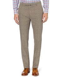 Slowear - Incotex Slimfit Prince Of Wales Check Cotton Trousers - Lyst