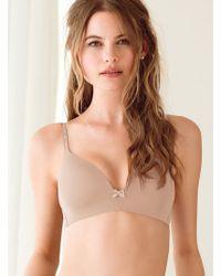 Victoria's Secret Beige Wireless Bra - Lyst