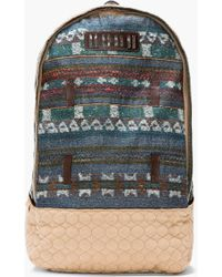 White Mountaineering - Teal Jacquard Patterned Wool Backpack - Lyst