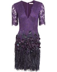 Matthew Williamson Lacquer Lace Dress - Lyst