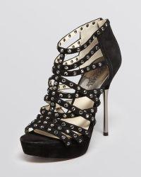 MICHAEL Michael Kors Maddie High Heel Platform Sandals  - Lyst