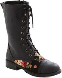 ModCloth | Blooming Saddles Boot in Black | Lyst