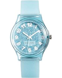 Boutique Moschino - Be Fashion Silver Glitter Watch - Lyst