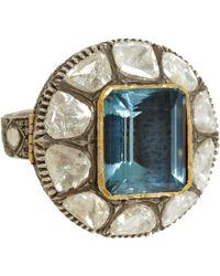 Munnu | Diamond & Aquamarine Ring | Lyst