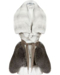 Rick Owens Mink Fox and Lamb Leather Sleeveless Jacket - Lyst