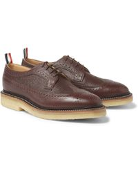 Thom Browne Full-Grain Leather Brogues - Lyst