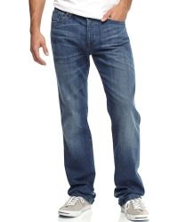 7 For All Mankind Standard Beryl Blue Jeans - Lyst