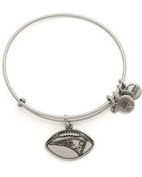 ALEX AND ANI - New England Patriots Football Expandable Wire Bangle - Lyst