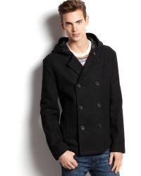 American Rag - Hooded Pea Coat - Lyst