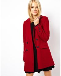 ASOS - Long Line Double Breasted Coat - Lyst