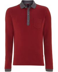 Hugo Boss Long Sleeve Embossed Pocket Polo - Lyst