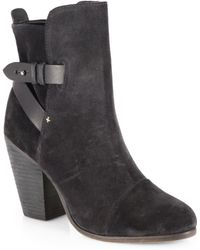 Rag & Bone Kinsey Suede Leather Ankle Boots - Lyst