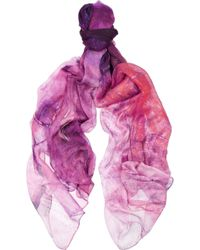 Weston - Heaven Calcite Printed Modal and Silkblend Scarf - Lyst