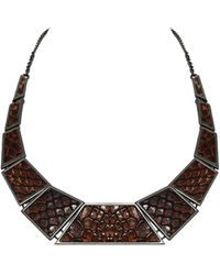 House Of Harlow 1960 Serene Serpentine Collar Necklace - Lyst