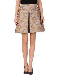 MSGM Mini Skirt beige - Lyst
