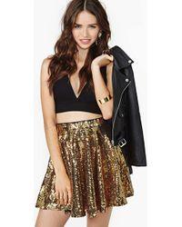 Nasty Gal Rare London Watch Me Dance Sequin Skirt - Lyst