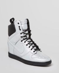 Nike Lace Up High Top Sneaker Wedges Womens Dunk Super Sky - Lyst