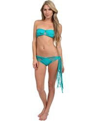 Thayer Bandeau and Side Tie Bottom - Lyst