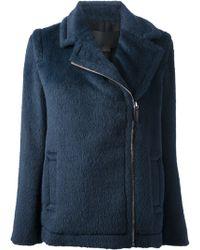 Alexander Wang Zip Front Jacket - Lyst