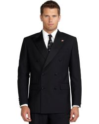 Brooks Brothers Double-Breasted Tuxedo Jacket - Lyst