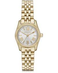 Michael Kors Petite Lexington Goldtone Stainless Steel Womens Bracelet Watch - Lyst