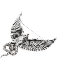 Roberto Cavalli - Brass Phoenix Brooch - Lyst