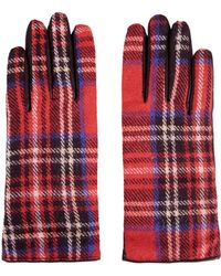 Topshop Wool Panel Gloves - Lyst