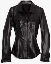 June - Exclusive Leather Shirt - Lyst