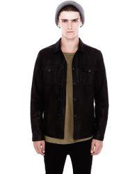 Pull&Bear Leather Jacket - Lyst