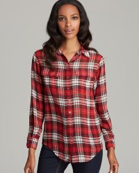 Two By Vince Camuto - Plaid Boy Shirt Tunic - Lyst
