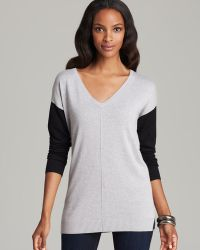 Two By Vince Camuto - V Neck Contrast Sleeve Jumper - Lyst