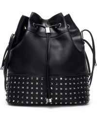 Zara Bucket Bag with Metal Detailing - Lyst
