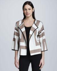 Adrienne Vittadini - Multi-knit Jacket - Lyst