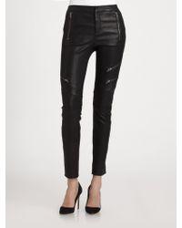 A.L.C. Cannova Leather Moto Pants - Lyst