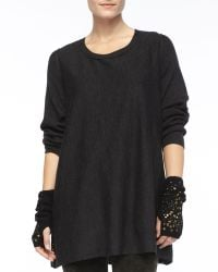 Eileen Fisher - Links Glovettes with Sequins - Lyst