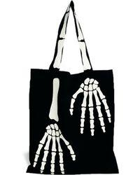 Monki - Almira Skeleton Hands Shopper Bag - Lyst