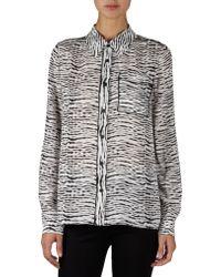 Proenza Schouler Shibori Print Georgette Shirt - Lyst