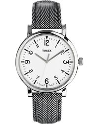Timex - Watch Originals Classic Round Leather Strap T2p213 - Lyst