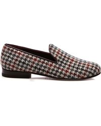 CB Made In Italy | Grey Harrys Tweed Slippers | Lyst