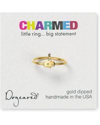 Dogeared - Small Hamsa Ring - Lyst