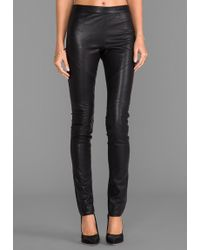 Graham & Spencer Leather Ponti Pants In Black - Lyst