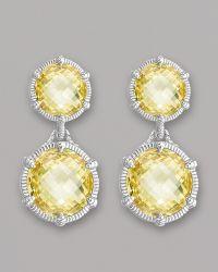 Judith Ripka - Eclipse Earrings - Lyst