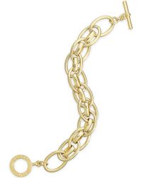 Lauren by Ralph Lauren - 14K Gold-Plated Link Toggle Bracelet - Lyst