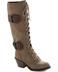 ModCloth Want To Wander Boot in Tan - Lyst