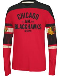 Reebok Nhl Chicago Blackhawks Crewneck - Lyst