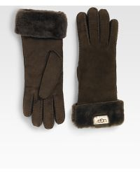 Ugg Shearling Turn-Cuff Gloves - Lyst