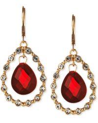 Jones New York Gold-Tone Siam Stone Orbital Drop Earrings - Lyst