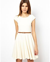 A Wear   Textured Skater Dress With Belt   Lyst